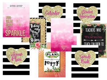 Teacher Planner Glitter Pink