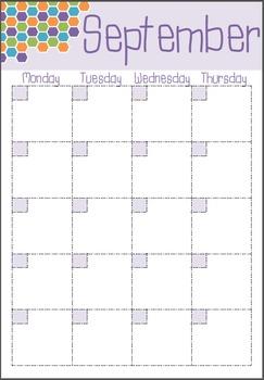 Teacher Planner - Hexagon Theme