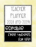 2019 Teacher Planner/Bullet Journal - EDITABLE