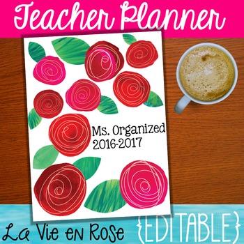 Editable Teacher Planner - Teacher Binder 2017-2018