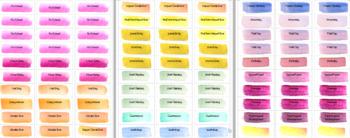 Teacher Planner Labels - Watercolor