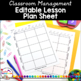 Teacher Planner - Lesson Plan Sheet