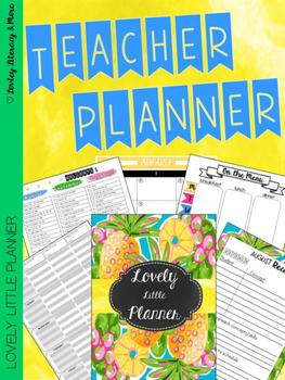 Teacher Planner: Lovely Little Planner Pineapple 2016-2017