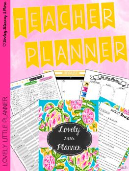 Teacher Planner: Lovely Little Planner Sea Turtles 2016-2017
