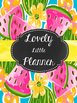 Teacher Planner: Lovely Little Planner Watermelon 2016-2017