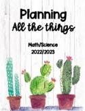 Teacher Planner Math/Science 2020-2021