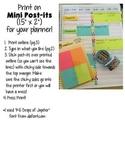 "Teacher Planner Mini Post-it (1.5"" x 2"") Printable"