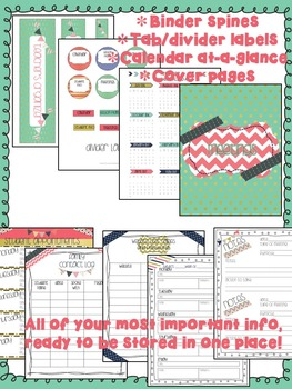 Teacher Planner {Mint, Coral, Gold}
