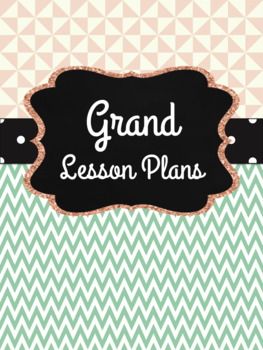 Teacher Planner: Mint and Coral Designs