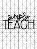 Teacher Planner 2021-2022{Modern & Simple}