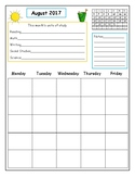Teacher Planner: Build-a-Planner; Month at a Glance
