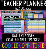 Teacher Planner & Monthly Goals - Gilded Gold Theme - US +