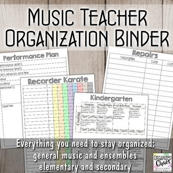 Ultimate Music Teacher Organization Binder Bundle