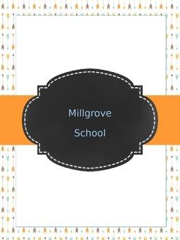 Teacher Planner: Blue, orange & brown