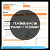 Teacher BINDER Planner Organiser