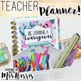 Teacher Planner - Editable Teacher Binder