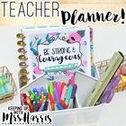 Teacher Planner - Editable Teacher Binder