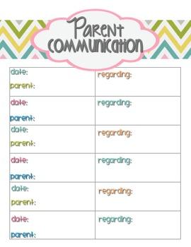 Teacher Planner / Organizer (blue, pink, peach, lime, teal theme)