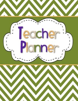 Teacher Planner / Organizer (olive, purple, tan, orange theme)