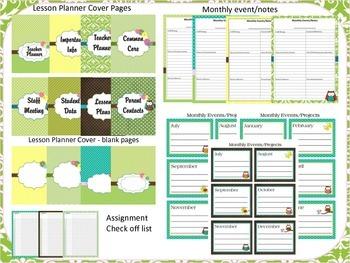Teacher Planner (Owl Theme) 2015-2016