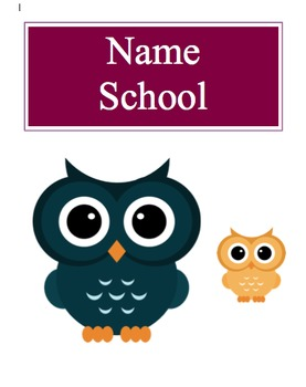 Teacher Planner - Owl Theme