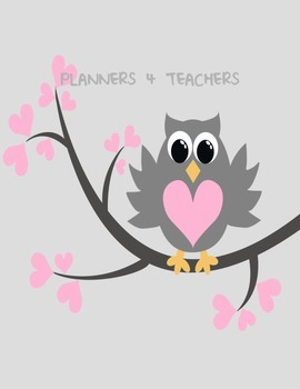 Teacher Planner: Owl weekly Planner in FRENCH