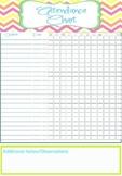 Teacher Attendance Chart Printable - INSTANT & EDITABLE