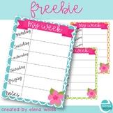 Teacher Planner Page Freebie