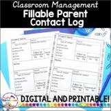 Teacher Planner - Parent Contact Log