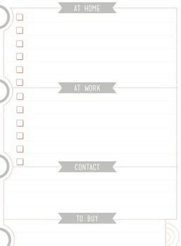 Teacher Planner - Peek at the Week Page