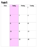 Teacher Planner (Pink)