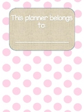 Teacher Planner - Pink Polka Dot Burlap