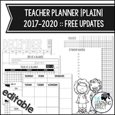 EDITABLE Teacher Binder & Planner - Simple Plain   FREE Updates