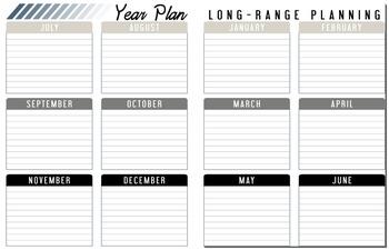 Printable Teacher Planner [Plan2Decorate]