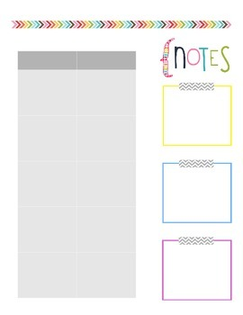 Teacher Planner- Planning Template Rainbow