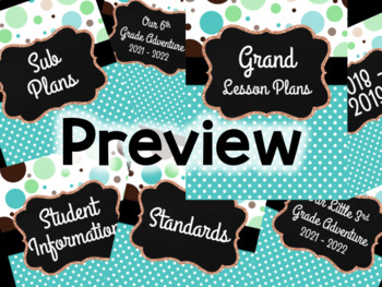 Teacher Planner: Polka Dot Party