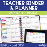Teacher Planner {Editable} - Polka Dots