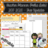 Editable Teacher Planner | Polka Dots