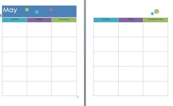 Teacher Planner & Calendar -Polka dot purple, blue etc. fully editable