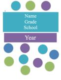 Teacher Planner & Calendar -Polka dot purple, blue etc. fu