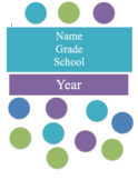 Teacher Planner & Calendar -Polka dot purple, blue etc. fully editable