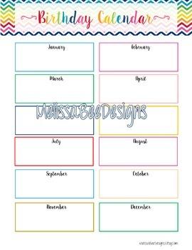 Teacher Planner Printable Pack in Pretty Colorful Chevronl Design