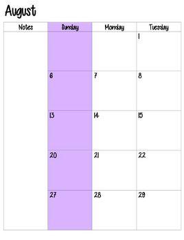 Teacher Planner (Purple)