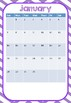 *2017 Update* Australian Teacher Planner - Purple Chevron