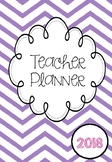 2018 Australian Teacher Planner - Purple Chevron