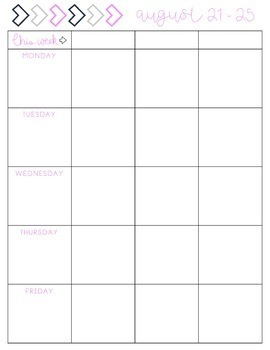 Teacher Planner // Purple Floral - PRINTABLE AND EDITABLE