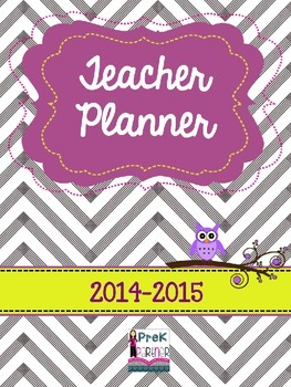 Teacher Planner: Purple & Yellow EDITABLE!