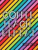 Teacher Planner 2021-2022{Rainbow Stripes}