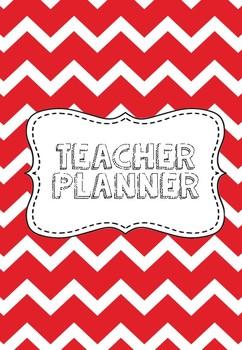 Teacher Planner Red