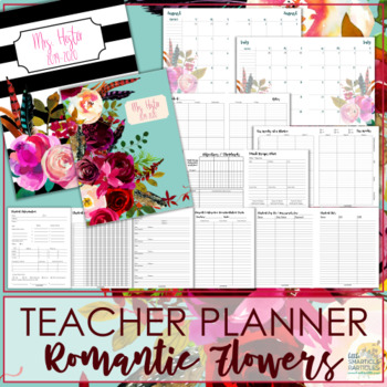 Teacher Planner - Romantic Flowers